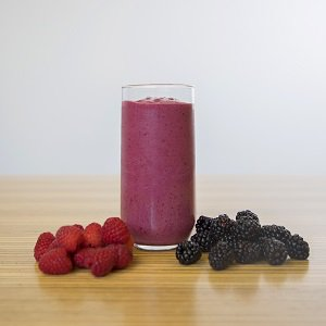 Black raspberry vanilla smoothie