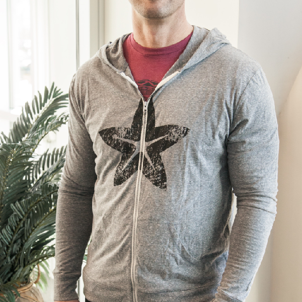 Grey Morinda Star Hoodie Photo