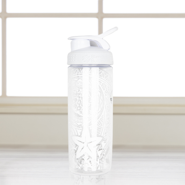 White Tribal Blender Bottle Photo